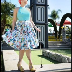 Pinup Couture Novelty Paris Skirt Pinup Girl